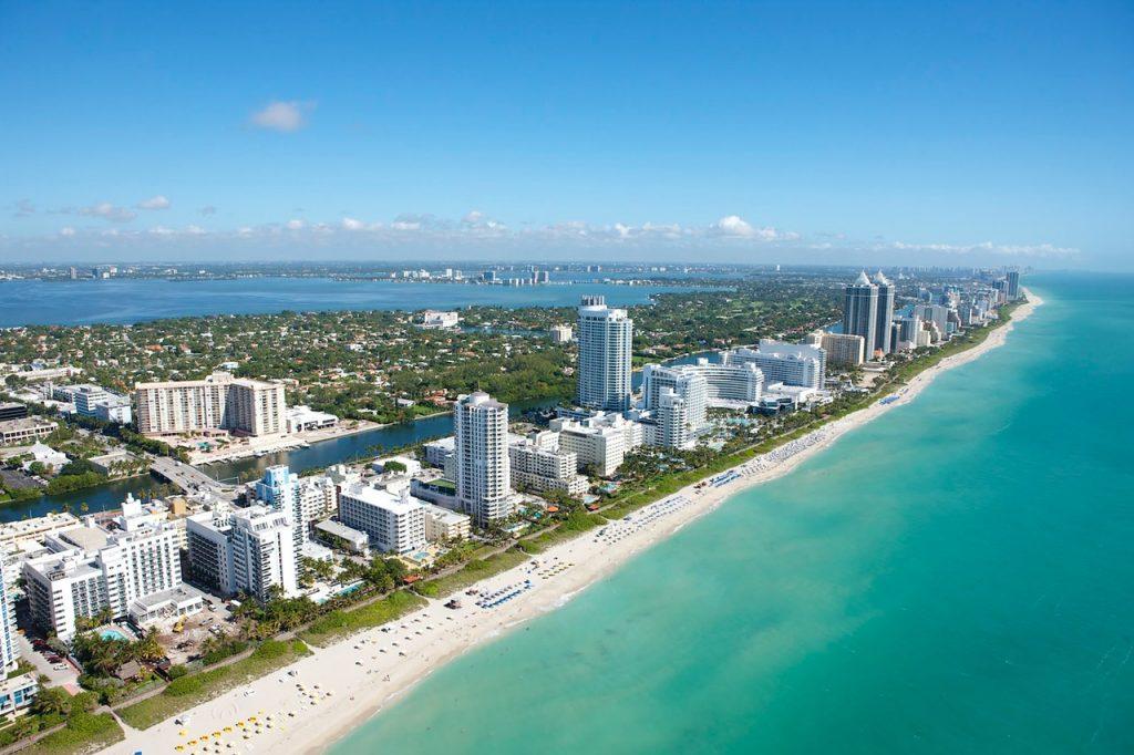 Miami, Florida beach